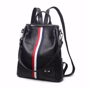 Decent2019 Pattern New Chaozhou, Japan And Korea Travelling Bag Korean Cowhide Both Shoulders Backpack Genuine Leather Woman Package