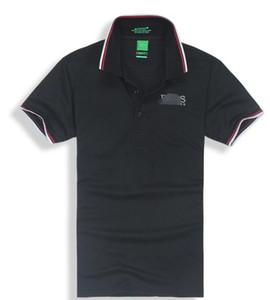 Мужские дизайнеры боссы рубашки поло Мужской Хьюго лето отложной воротник короткие рукава хлопчатобумажные рубашки поло Мужчины повседневные топы поло