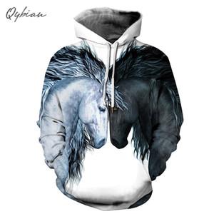 Aşıklar Yeni Moda Komik Kadınlar / erkekler Erkek / femme Kapüşonlular Kazak Erkek Eşofman Tişörtü Unisex Giyim yazdır 3d