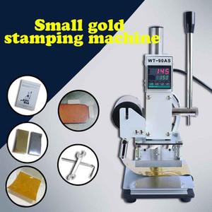 PVC deri PU ve kağıt damgalama için Sıcak Varak Basınç Mark makinesi Manuel Bronzlaştırıcı Makinası