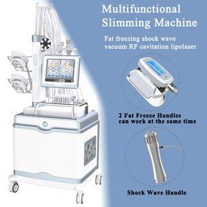 ED Tedavi için Shockwave Freezing Liposuction Makinesi Profesyonel Ultrasonik Kavitasyon Makineleri Vakum RF Terapi Zayıflama Makinesi