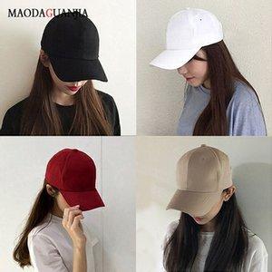 Baseball Caps Cappello per il sole Leosoxs Casual Primavera Estate cotone 18 colori solidi Coppie di colore con visiera