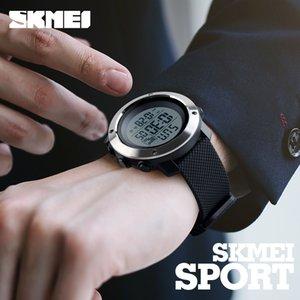 LED SKMEI أزياء الرجال الرياضة الساعات كرونو الوقت مزدوجة الرقمية ساعات المعصم الرجال الالكترونية الرقمية على مدار الساعة رجل Relogio ذكر للLY191213