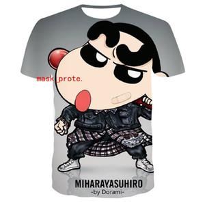 2020 japanische Marke loses T-Shirt mit Kreide neue Animation Druck 3D Duan Xiu T-Shirts l für Männer Kleidung ovo Freien Verschiffen