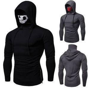 Fashion Skull Tops Hooded Sweater Hoodies Pullover Men's Sweatshirt Jumper Mask Jhwek