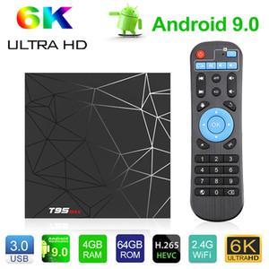 ماكس T95 الروبوت 9.0 TV صندوق 2GB 16GB 4GB 32GB TV صندوق ALLWINNER H6 رباعية النواة الذكية TV VS Q زائد