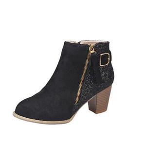 austrália Mulheres Sexy Ankle Boots Luxo pedaços das senhoras do desenhador botas de salto Moda Salto Alto Martin botas de camurça com bomba brilho
