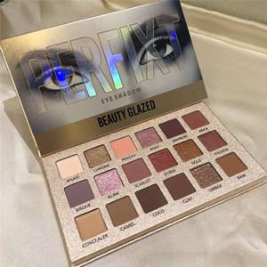 جديد 2019 Beauty Glazed Perfixt 18color Eyeshadow Palette ماتي لامع معدني ظلال العيون Epacket