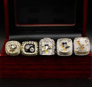 1991 1992 2009 2016 2017 Set Pittsburgh PenguinsWorld Football Solid Alloy Championship Rings Set