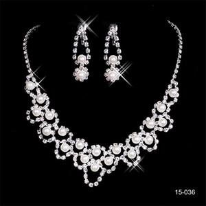 2020 Eyesight Mode Braut Juwel Sets 036 Kristall Hochzeit Braut Runde Halskette Ohrring Abend Party Schmuck