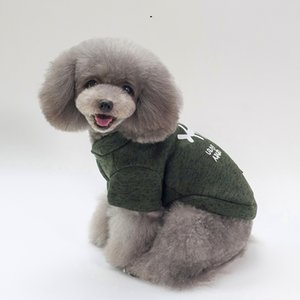 Fashion Trend Dog Clothes High Quality Printed Pet Clothes Cotton Black Dog Clothes Free Shipping