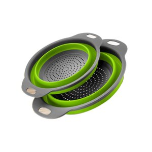 Foldable Strainer Basket Collapsible Colander Sets Square Shape Fruit Vegetable Washing Drainer Kitchen Baskets CF-157