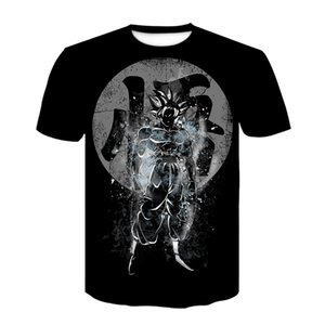 2020 New Shirt Kids Z TShirt 3D Print Anime Goku Vegeta Black 3D print funny T-shirts summer tops man t-shirt homme