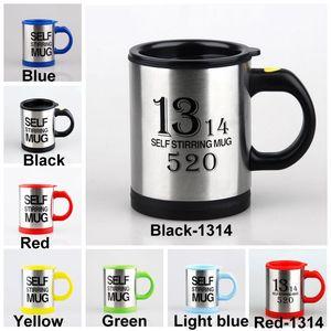 400ml électrique automatique Lazy Agitation Tasse de café au lait inoxydable Coupe en acier de mélange tasse de jus Bouteilles auto Agitation Drinkware DH1388 T03