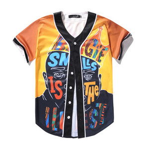 Fashion 3D Men Baseball Shirt Sport Jersey Good Quality With Button Online Sale 46