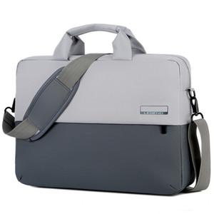 Бизнес Сумки для ноутбуков плеча портфель большой емкости компьютера мешок вскользь портативный портфель Строчка пакет Унисекс