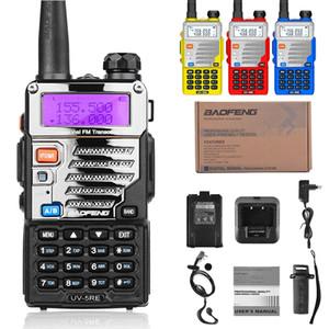 2pcs Baofeng walkie talkie UV5RE de banda dual radio de dos vías Pofung UV 5RE 5W 128CH UHF / VHF batería 1800mah con el auricular (BF-UV5RE)