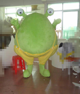 Pregnant frog Mascot Costumes Animated theme big eyes frog Cospaly Cartoon mascot Character Halloween Carnival party Costume