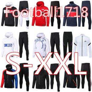 2020 2021 Париж балахон куртка Survetement 19 20 21 Париж Кавани MBAPPE футбольных пиджаки костюмы воздуха jordam х футбол Tracksuit