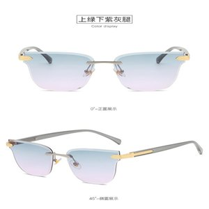 Gradient frameless sunglasses Fashion Rimless Sunglasses Women Brand Designer Sun Glasses Gradient Shades Cutting Lens Ladies Frameless i4wv