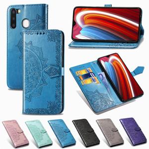 Bolsa em couro capa para Samsung Galaxy A21 Caso Borboleta Flor 3D Carteira Cartão Capa Para Samsung A21 Coque Funda