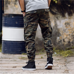 20SS Fashion Cotton Designer Mens Camouflage Jogging Pants Zipper Overalls Beam Foot Trousers Irregular Hip Hop Mens Stylist Pants M-3XL