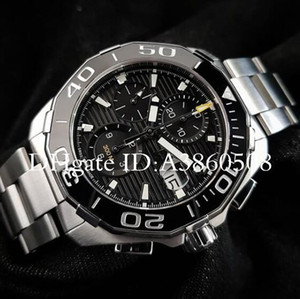 Роскошный Подарок Швейцарские Часы Мужчины Tag montres Высококачественная Нержавеющая Сталь Керамическая Рамка Хронограф Кварцевые Часы Спортивные orologio da polso