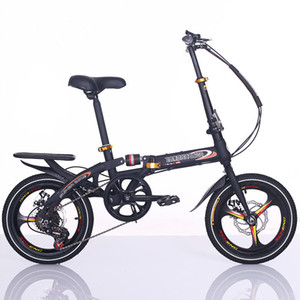 el más reciente disco de freno de bicicleta plegable de 16 pulgadas tipo portátil bicicleta plegable impactante bicicletas a prueba de herramientas de viajes de recreo de estudiantes dama bicicleta
