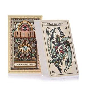 78 del tatuaggio di Tarocchi Oracle piattaforma di carte di Mysterious Guidance Divinazione Destino Tarocchi Consiglio per la Famiglia Gam gioco per bambini