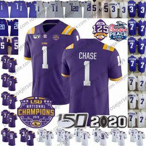 2020 LSU Tigers Burrow Champions Jersey 1 Ja'Marr Chase Tyrion Davis-Prezzo 7 Leonard Fournette Patrick Peterson Derrius Guice Cannon Fulton