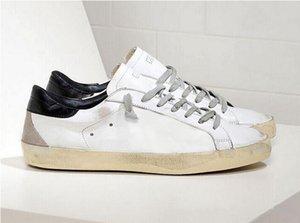 2020 la mejor calidad Italia multicolor de oro Superstar diseñador zapatillas de deporte Hombres Mujeres blanco clásico Do-Dirty old Moda Casual zapatos size35-45