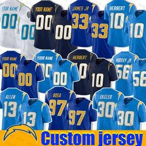 Los AngelesChargeur Jersey 10 Justin Herbert 33 Derwin James Austin 30 Ekeler 97 Joey Bosa 55 13 Keenan Junior Seau Allen Tomlinson