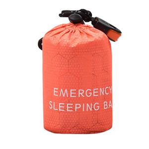 Портативный легкий Кемпинг спальный мешок Открытый Emergency спальный мешок с кулиской Sack для кемпинга путешествий Туризм EEA1090-1