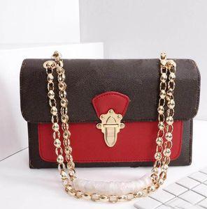 2019 новый дизайн женская цепь сумка почтальона сумка из натуральной кожи дорожная работа двухцветная сумка через плечо лоскут сумочка почетная сумка
