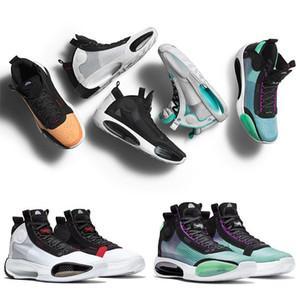 2020 New Jumpman XXXIV 34 Eclipse-Blau Void Grün Weiß Schwarz Rot Herren-Basketball-Schuhe für hohe Qualität 34s Männer Sport-Turnschuhe