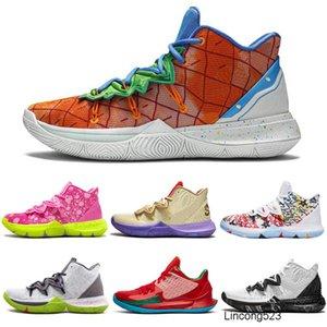 Kyrie 5 erkek basketbol ayakkabıları TV PE 20. Yıldönümü Irving 5s Sue Taze I Love You Mom Moda Spor Sneakers eğitmenler mens tutun