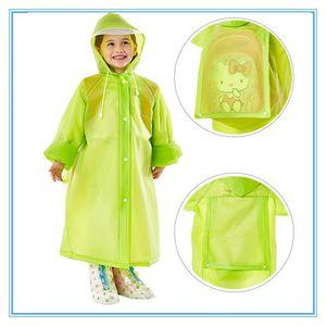 Мода школы мешок с капюшоном плаща EVA Плащи Дети пончо Дети дождевики Путешествия дождевик Водонепроницаемая дождь Wear 5 цветов DBC DH0737