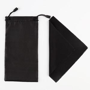 100шт мягкие солнцезащитные очки сумка с салфеткой из микрофибры пыли водонепроницаемый чехол для хранения очки сумка для переноски портативный очки чехол
