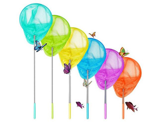 Kids Telescopic Pole Butterfly Catcher Nets Fishing Net Catch Insect Bug Small Fish Net Outdoor Tools Chidren Playing Extend Edcation toys