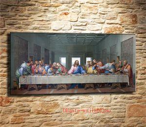 Last Supper Leonardo Da Vinci, Tuval Boyama Oturma Odası Ev Dekor Modern Duvar Sanat Yağlıboya
