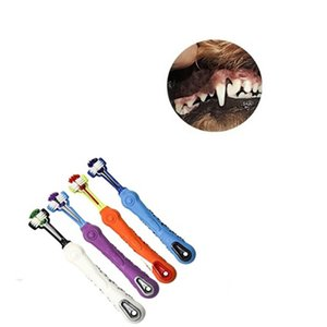 Three Sided Pet Toothbrush Dog Brush Addition Bad Breath Tartar Teeth Care Dog Cat Cleaning Mouth Hot Selling