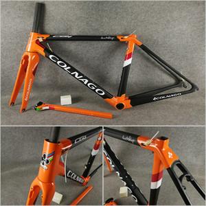 Orange Noir mat T1100 UD-brillant cadres de route en carbone Colnago C64 Concept C60 Frameset avec 48 50 52 54 56cm Livraison gratuite
