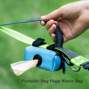 Dog Poop Bag Titular portátil Dog Poop Waste Bag Dispenser Bolsa Pet filhote de cachorro Cat Pick Up Poop titular saco Sacos de lixo organizador
