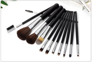 High Quality Portable Black Soft Fiber Handle 12PCS Powder Blush Brushes Beauty Face Makeup Tool Brush