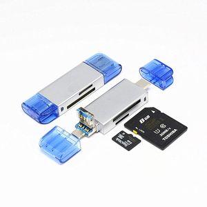 اكتب C مايكرو USB USB 3 في 1 قارئ بطاقة OTG عالي السرعة USB3.0 العالمي OTG TF / SD للرؤوس تمديد الكمبيوتر الروبوت
