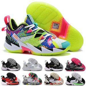 Russell Westbrook III neden sıfır değil.3 erkek basketbol ayakkabıları için yüksek kalite Gökkuşağı siyah leopar tahıl Jumpman spor Sneakers boyutu 7-12