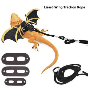 Новая мода Lizard поводка Reptile Жгут Регулируемый бородатый дракон + Прохладная кожа Крыла