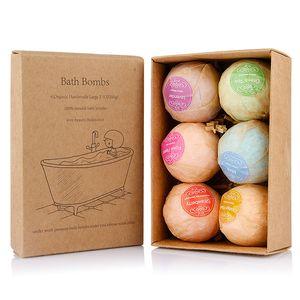 Bombe da bagno Organic Spa Cura della pelle Vasche bombe Bubble Bath Salts sfera menta Lavanda Rosa Bombe Sapore Bath