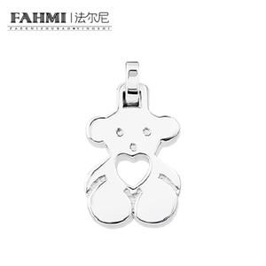 Fehmi% 100 925 gümüş Moda Gençlik Sevimli Casual Bear Kolye Orijinal Charm Kadınlar Büyüleyici Hediye Sevgililer Günü