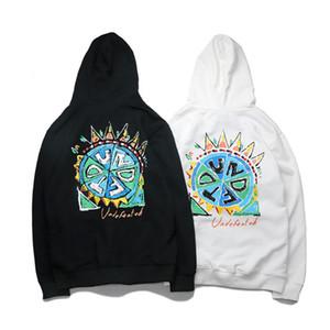 Yenilmez Erkek Hoodie Ceket stilist Yüksek Kaliteli Graffiti Baskı Sweashirt Hoodie Hip Hop Moda Erkekler Kadınlar Uzun Kollu Gri Siyah